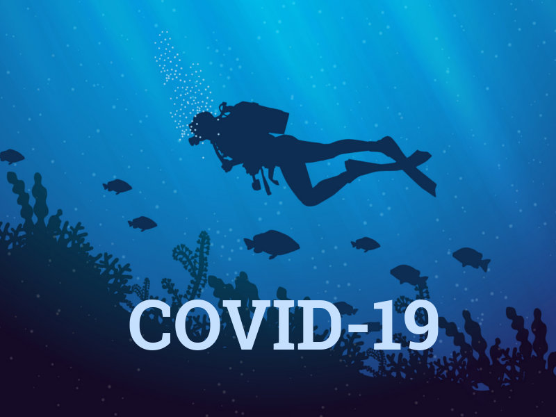 how to reduce the spread of COVID-19 in scuba diving
