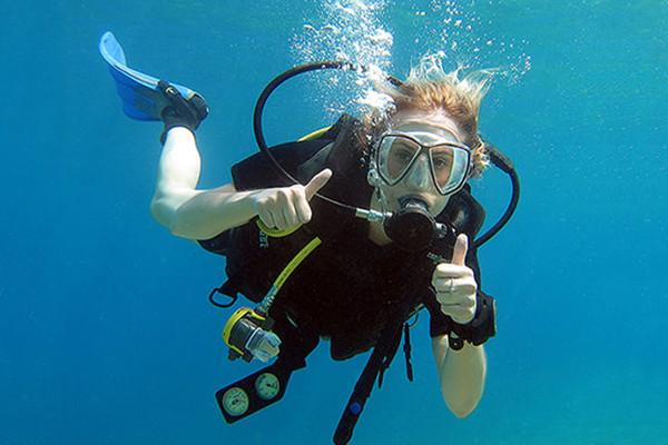 Practicing Scuba Diving