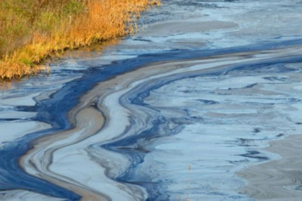 Toxic spilled into the river