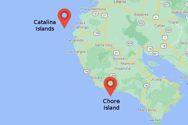 Map Snorkeling in Guanacaste, Costa Rica