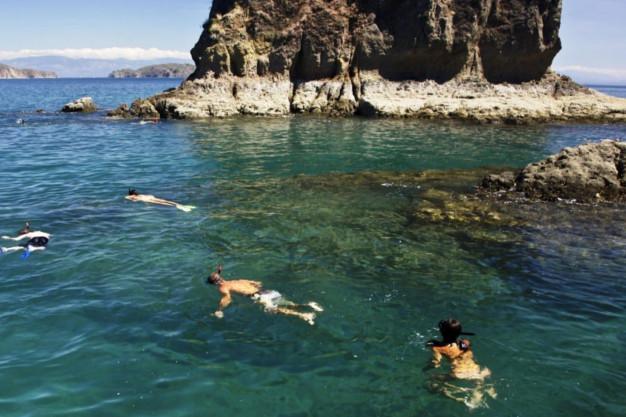 Snorkeling in Los Morteros, Torguta Island Costa Rica