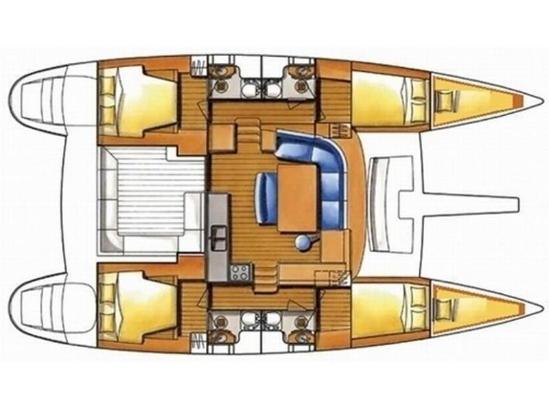 Lagoon Catamaran cabin distribution