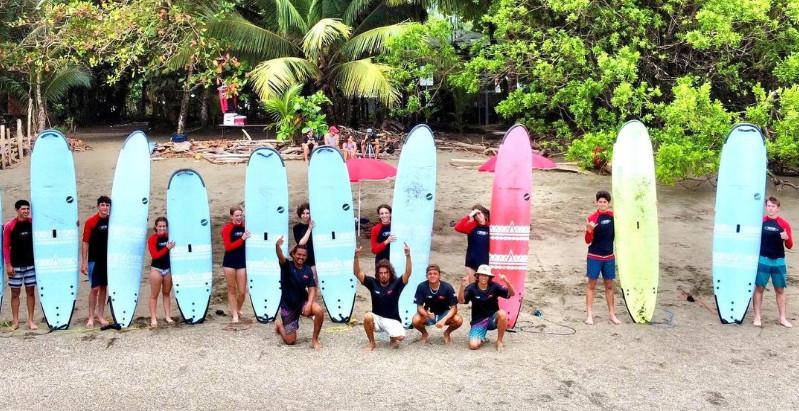 Surf School Students in Costa Rica