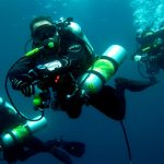 Technical Divers with Enriched Air Tanks