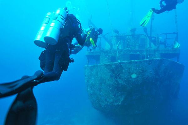 Technical Diving Shipwreck